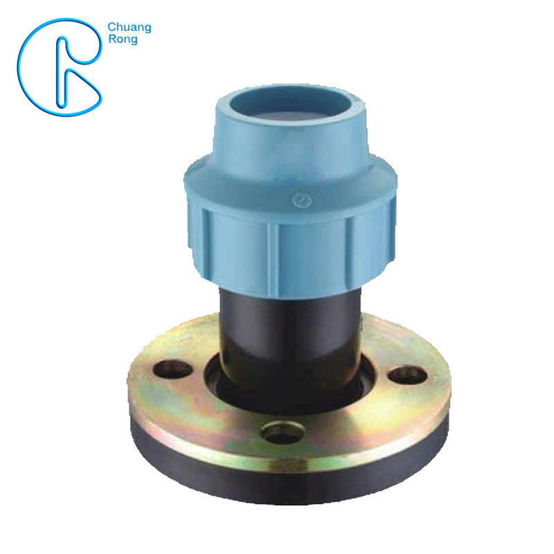 Tightening Compression Fittings Polypropylene Flange For Irrigation System