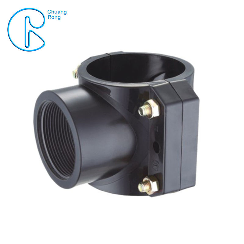 25 - 250 Mm PP Compression Fitting PN16 Pp Clamp Saddle High Stability