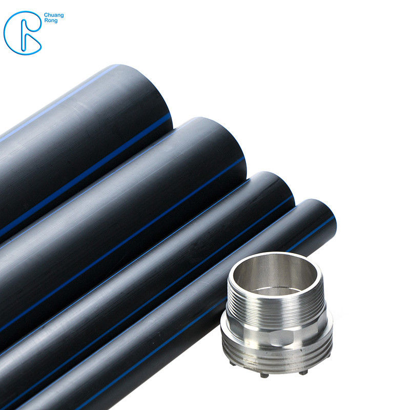 PE100 Hdpe Pipe For Water Supply , Black Hdpe Tubing Corrosion Resistance